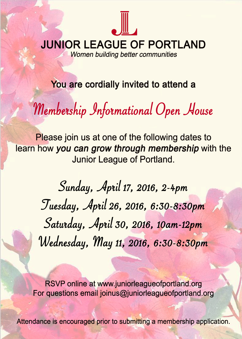 Approved Open House Invitation Post Card